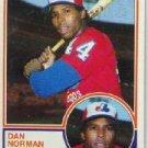 1983 Topps #237 Dan Norman
