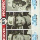 1979 Topps #715 Bruce Benedict RC/Glenn Hubbard RC/Larry Whisenton RC