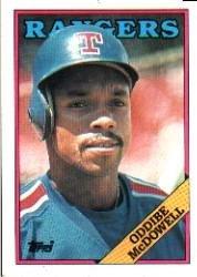 1988 Topps 617 Oddibe McDowell