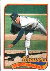 1989 Topps 595 Teddy Higuera