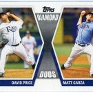 2011 Topps Diamond Duos #PG David Price/Matt Garza