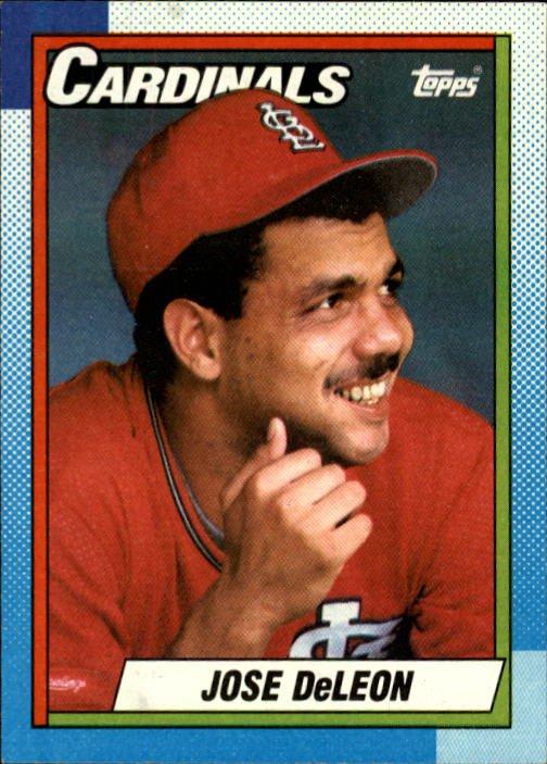 1990 Topps #257 Jose DeLeon - St. Louis Cardinals (Baseball Cards)