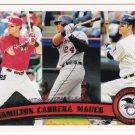 2011 Topps #109 Josh Hamilton/Miguel Cabrera/Joe Mauer LL