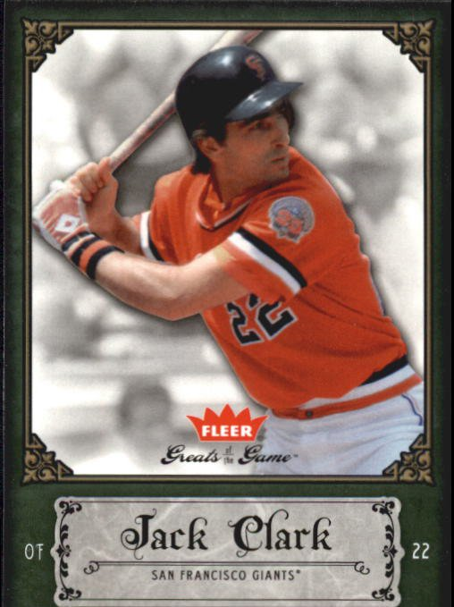 2006 Greats of the Game 48 Jack Clark