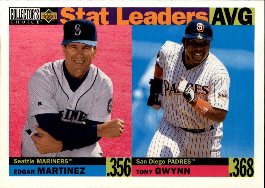 1996 Collector's Choice #2 E.Martinez/T.Gwynn SL