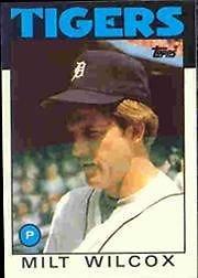 1986 Topps 192 Milt Wilcox
