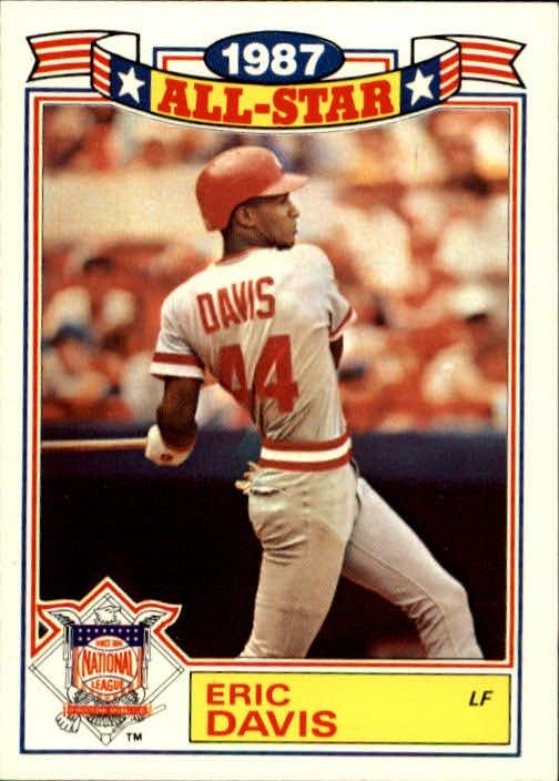 1988 Topps Glossy All Stars #17 Eric Davis