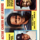 1984 Topps 711 Rod Carew/Bert Campaneris/Reggie Jackson LL