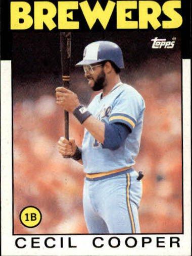 1986 Topps 385 Cecil Cooper