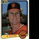 1983 Donruss #524 Jim Wohlford
