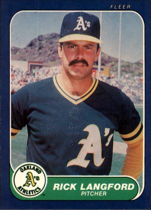 1986 Fleer #425 Rick Langford