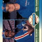 1987 Fleer #647 M.Stanley/J.Browne RC