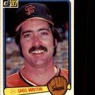 1983 Donruss #186 Greg Minton