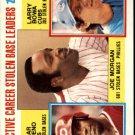 1984 Topps 705 Joe Morgan/Cesar Cedeno/Larry Bowa LL