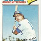 1977 Topps 124 George Mitterwald