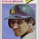 1977 Topps 606 Steve Braun