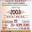2012 Panini Cooperstown Credentials 3 Eddie Murray