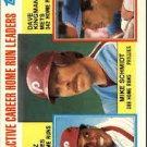 1984 Topps 703 Mike Schmidt/Tony Perez/Dave Kingman LL