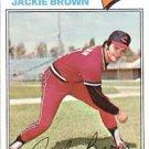 1977 Topps 147 Jackie Brown
