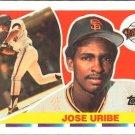 1990 Topps Big 213 Jose Uribe