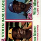 1980 Topps 204 Stolen Base Leaders/Omar Moreno/Willie Wilson