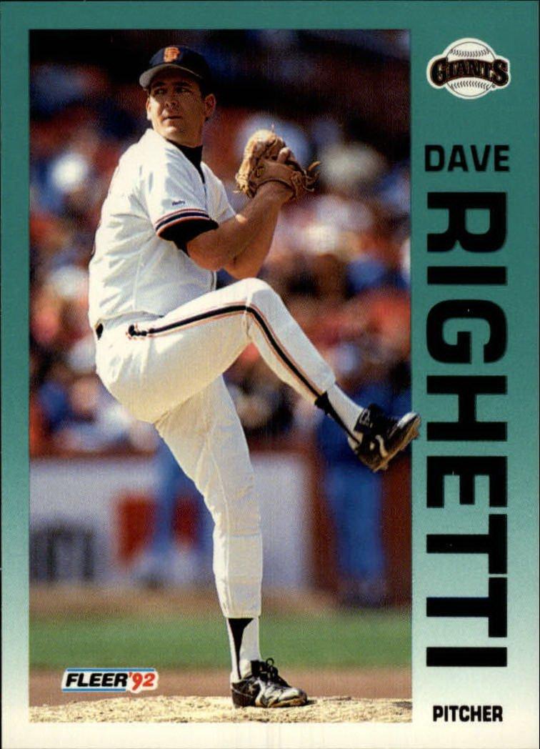1992 Fleer 647 Dave Righetti