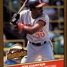 1986 Donruss Highlights 42 Joe Carter
