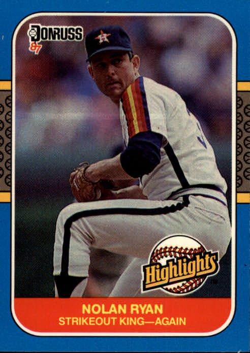 1987 Donruss Highlights 53 Nolan Ryan