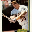 1991 Topps 162 Ozzie Canseco