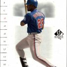 2001 SP Authentic 8 Carlos Delgado