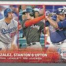 2015 Topps 349 Justin Upton/Adrian Gonzalez/Giancarlo Stanton LL