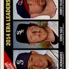 2015 Topps Heritage 222 Corey Kluber/Chris Sale/Felix Hernandez