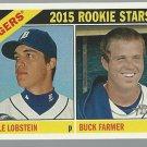2015 Topps Heritage 209 Buck Farmer RC/Kyle Lobstein RC