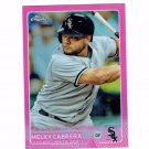 2015 Topps Chrome Pink Refractors 127 Melky Cabrera