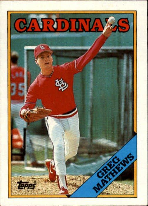 1988 Topps 133 Greg Mathews