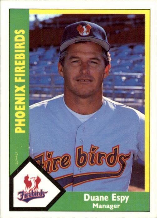 1990 Phoenix Firebirds CMC #24 Duane Espy MGR