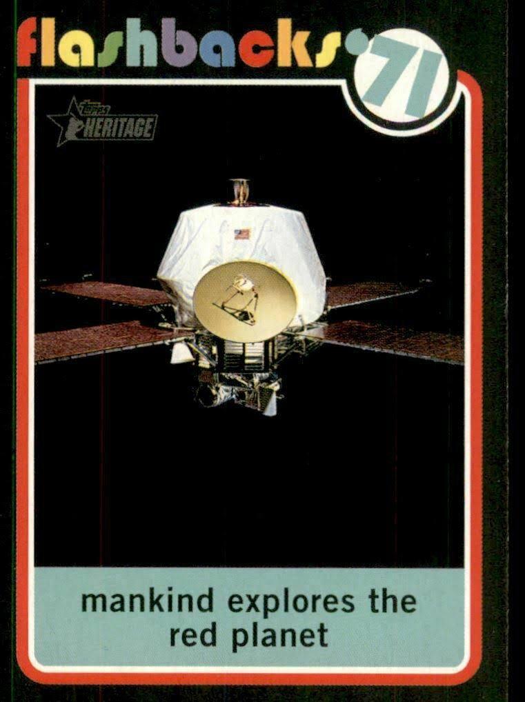 2020 Topps Heritage News Flashbacks NF10 Mariner 9 enters Mars' orbit