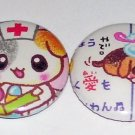 Puppy Hospital, japanese kawaii pinback set