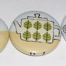 Kutusitanyanko, Tea Time Kitty, japanese kawaii pinback badge set