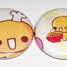 Crux Natto Chan, handmade japanese kawaii pinback button set