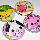 Bento Sushi Buddies, japanese kawaii pinback button pin badge set