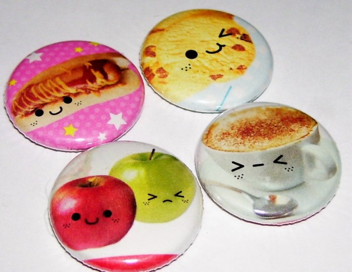 Food With Faces, japanese kawaii magnets
