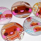 CHOCOLATE CUTIES japanese food kawaii button magnets