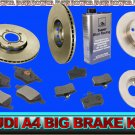 NEW AUDI A4 / Quattro FULL BRAKE Pad & Rotor KIT GERMAN
