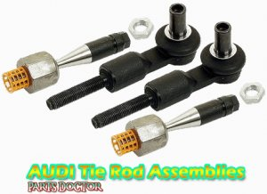 2 Audi A4 A6 A8 Passat Tie Rod End Assembly Assemblies