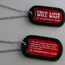 True Love Will Wait Dog Tag Necklace