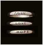 Faith Love Hope Sterling Silver - 3 Stackable Rings - Sold as a Set.