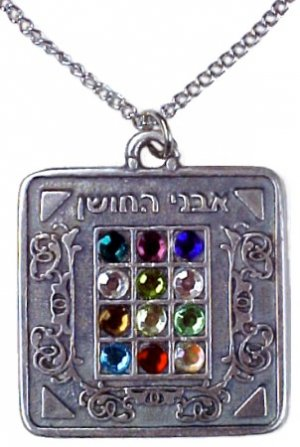 """Chestpiece Necklace Stainless Steel Chain 20""""  made in Isreal"""
