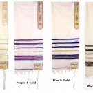 "Prayer Shawls (Tallit) with Gold Trims Size: 24"" Long x 72"""