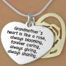 Grandmother's Heart  -  Charm and Necklace